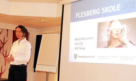 Skoleutvikler Beate Aske Løtveit er glad for det store engasjementet som er blitt vist fra de ulike brukerne av den fremtidige skoleanlegget på Stevningsmogen.